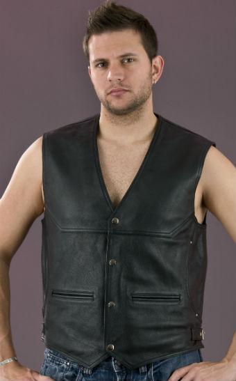 Men's Side Buckle Leather Vest ML 1927N