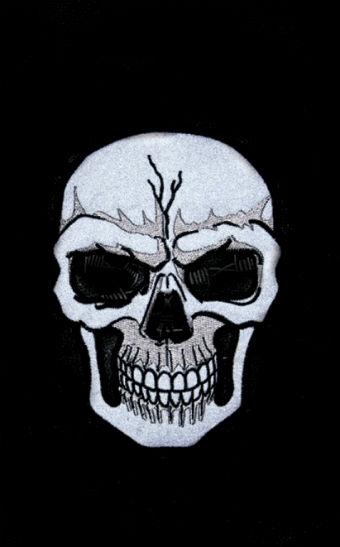 Men's Skull Leather Vest ML 1953C, Night