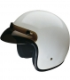 Open Face HCI-10 White Helmet