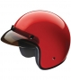 Open Face HCI-10 Red Helmet