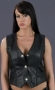 LADIES BRAIDED LEATHER VEST ML 1255N