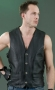 Men's Laces Leather Vest ML 1369N